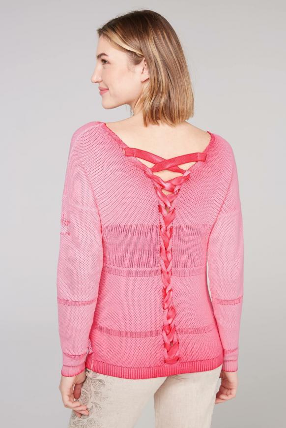 Pullover mit Schnürung am Rücken