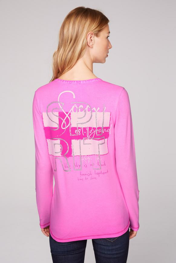 Serafino-Shirt mit Rücken-Artwork