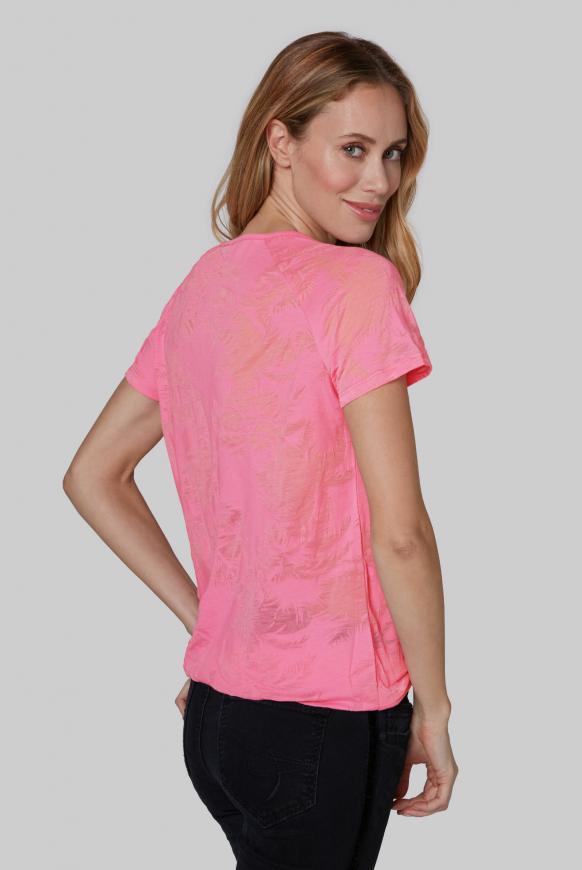 Shirt mit Ausbrenner-Muster