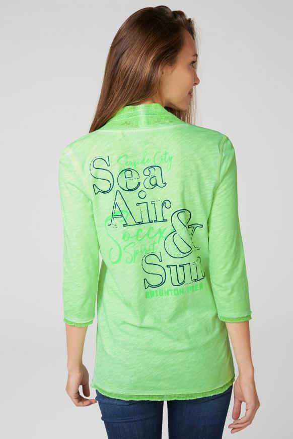 Shirt mit Mesh-Details und Rücken-Print