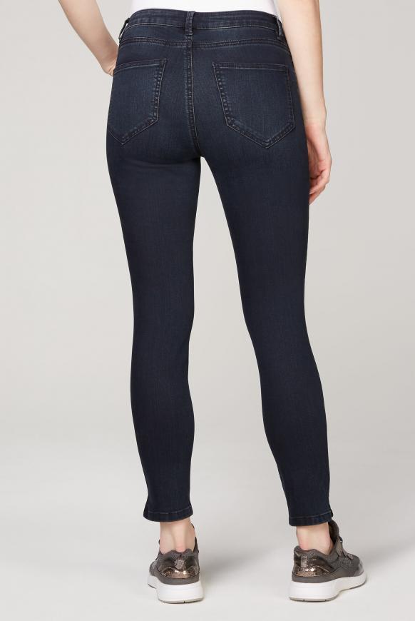 Slim Fit Jeans MI:RA mit Strasssteinen