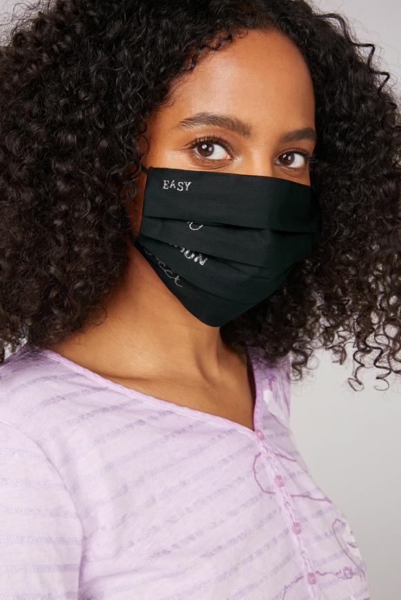 Stoffmaske mit Glitzer-Print im 4er Pack