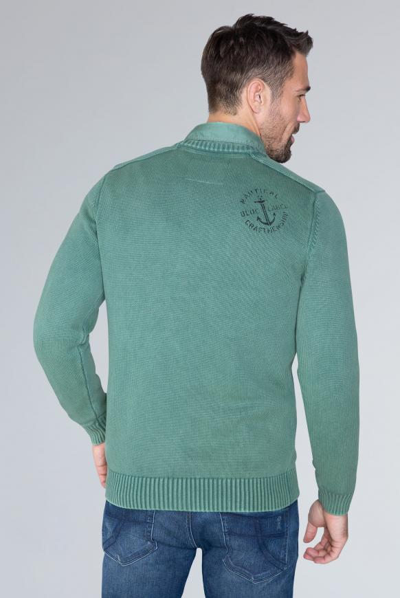 Stone Washed Pullover mit Artwork