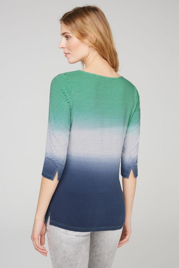 Streifenshirt mit Dip-Dye-Effekt