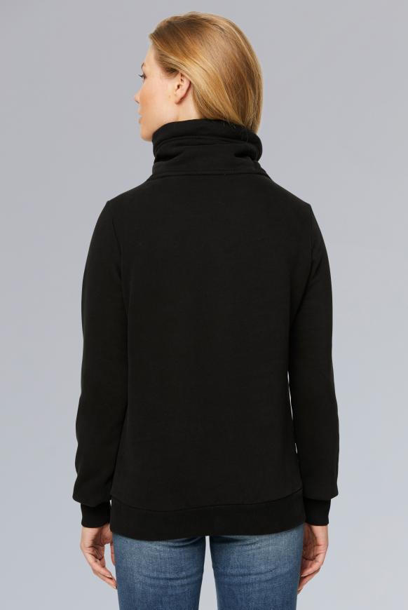Sweatshirt mit Glitter Puff Print