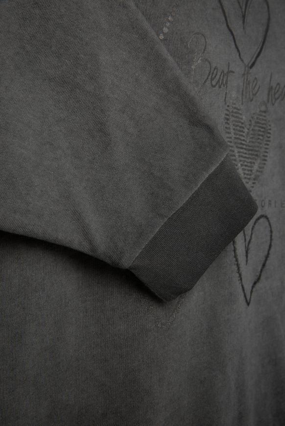 Sweatshirt mit kurzen Ärmeln und Label Print