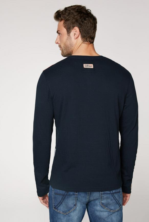 Sweatshirt mit V-Ausschnitt und Artwork