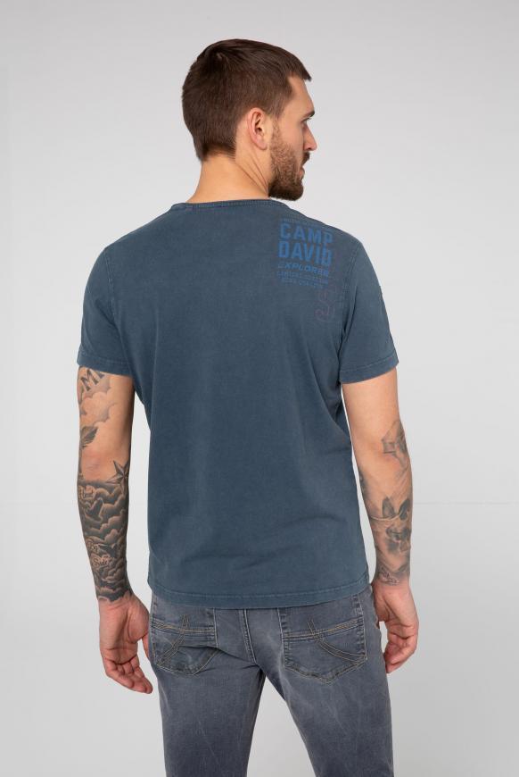 T-Shirt im Vintage Look mit Label Print