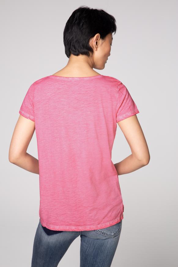T-Shirt mit Artwork und Glitzernähten