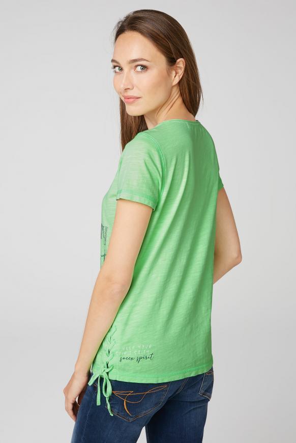 T-Shirt mit Artwork und Schnürung