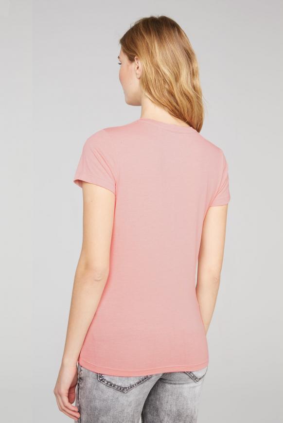 T-Shirt mit Glitter Puff Print