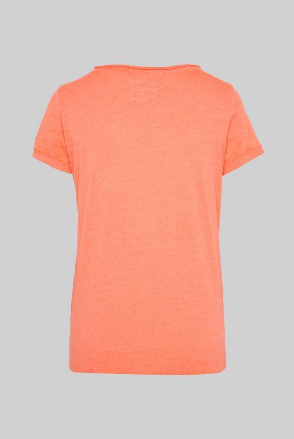 T-Shirt mit Print und Knotensaum
