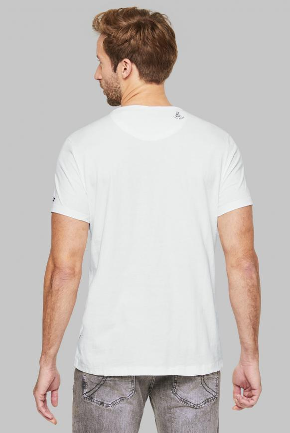T-Shirt mit Vintage Print und Tasche