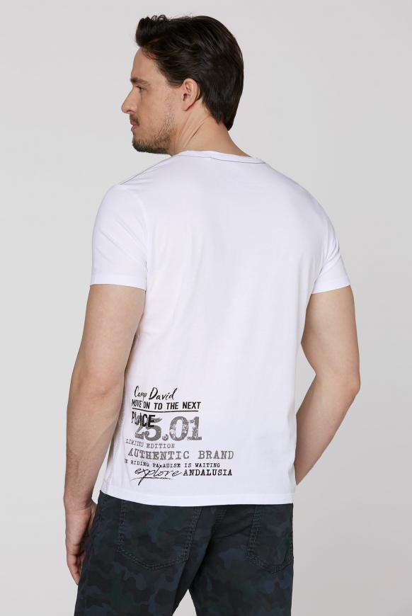 T-Shirt V-Neck mit Prints