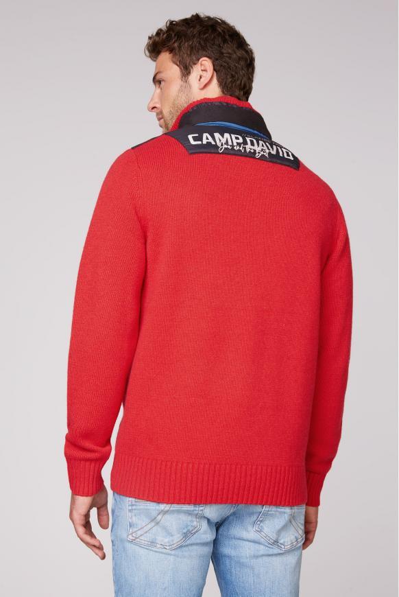Troyer-Pullover mit Kapuze und Artwork