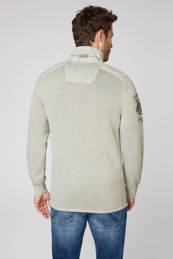 Troyer-Pullover mit Twill-Besätzen