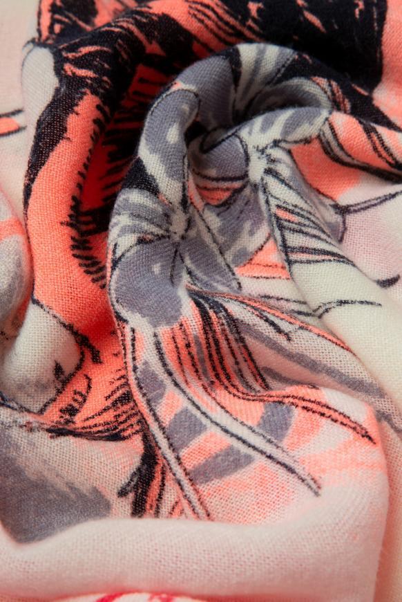 Tuch mit Dip-Dye-Effekt und Print