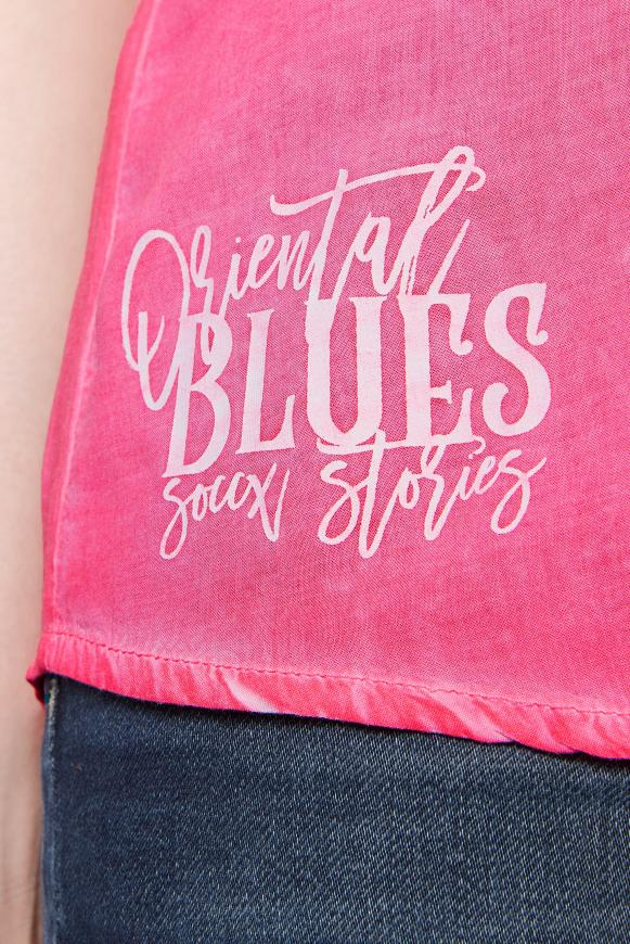 Ärmellose Bluse mit Rücken-Artwork