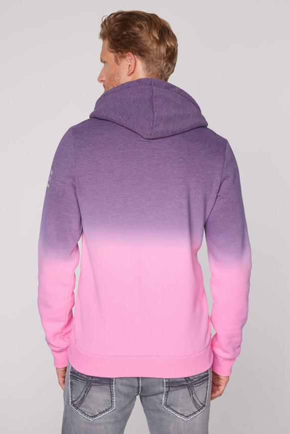 Dip Dye Hoodie mit Label Prints