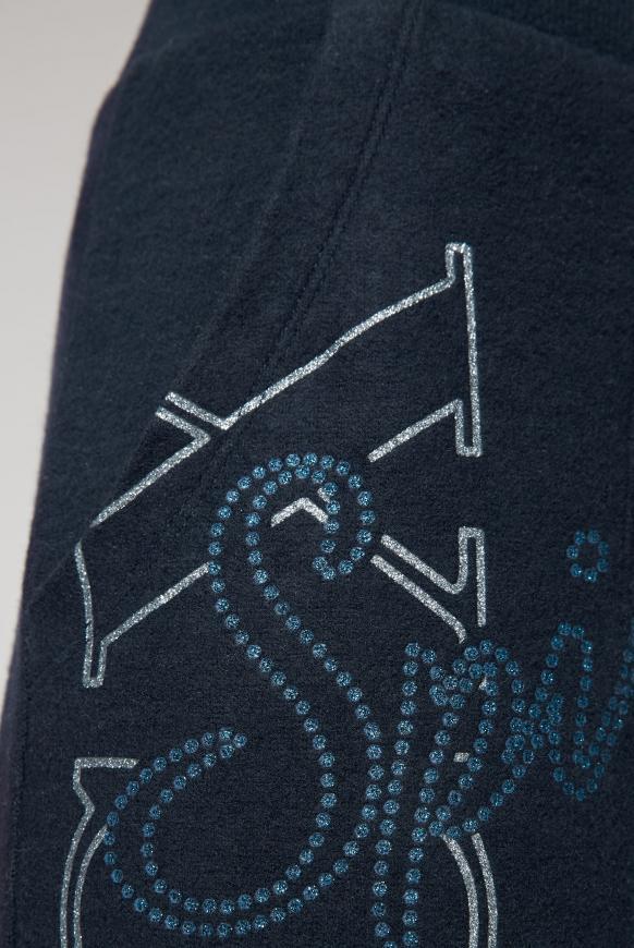 Fleece-Jogger mit Glitter Prints