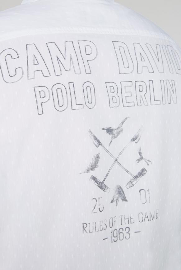 Hemd mit Webstruktur und Rücken-Print