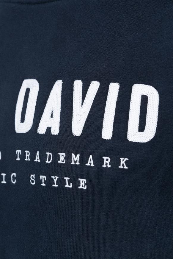 Hoodie mit großer Logo-Stickerei