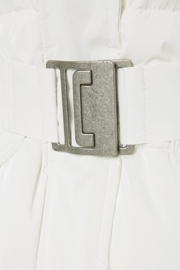 Jacke mit Strickkapuze und Taillengürtel