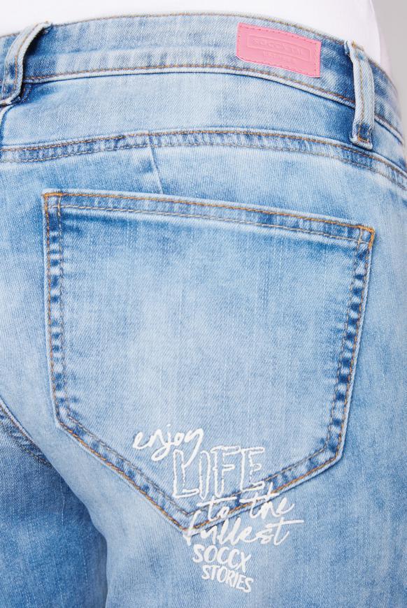 Jeans MI:RA Acid Washed mit Prints