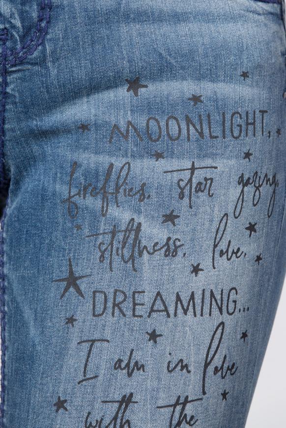 Jeans MI:RA Salt Water Washed mit Artworks