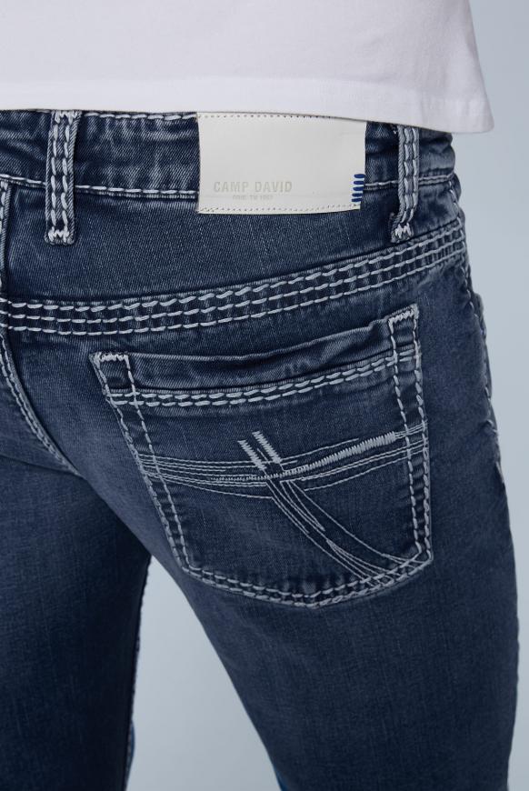 Jeans RO:BI mit Knopfverschluss und Used Look