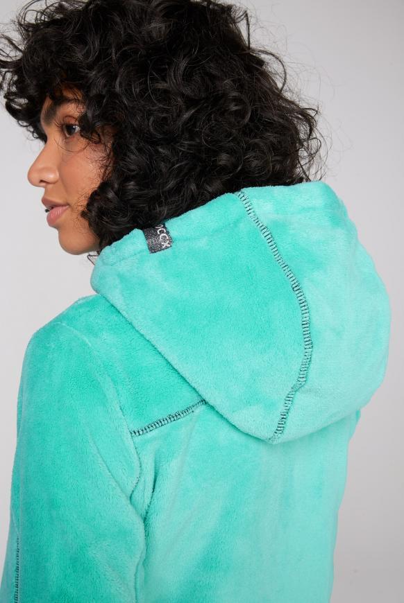 Kapuzenjacke aus Sherpa-Fleece