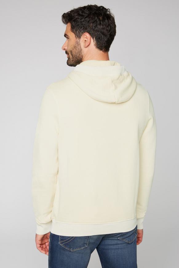 Kapuzensweatshirt mit toniger Stickerei