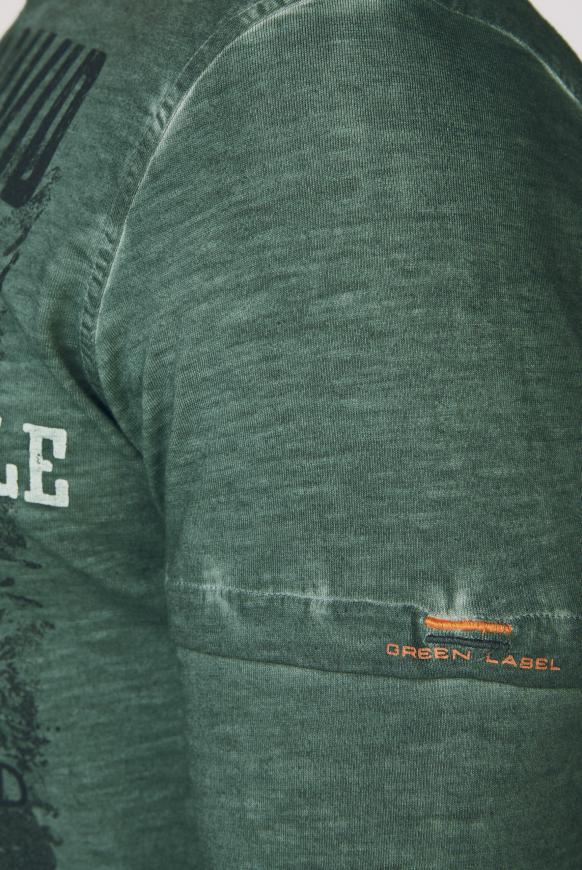 Langarmshirt Oil Dyed mit Artwork
