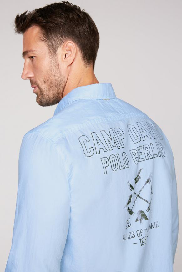 Oxford-Hemd mit Rücken-Print