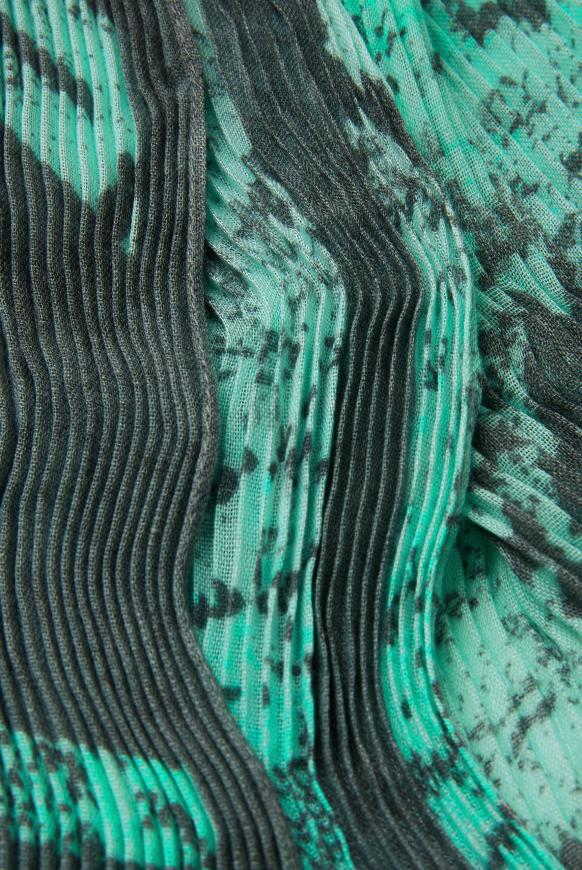 Plissee-Tuch mit Snake Print