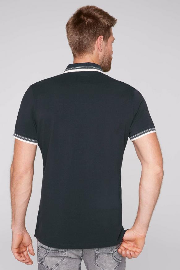 Poloshirt aus Pikee mit Trikotkragen