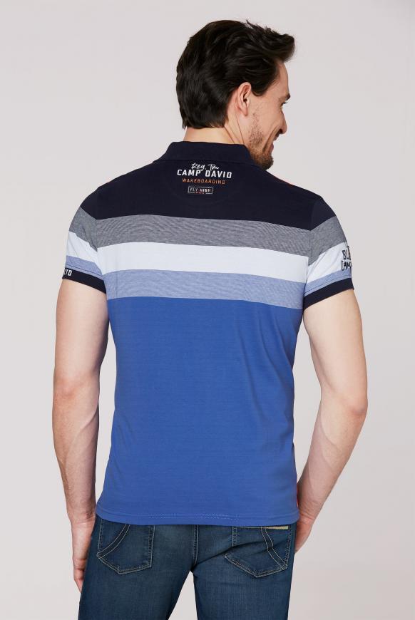 Poloshirt mit Streifen-Dessin und Artworks
