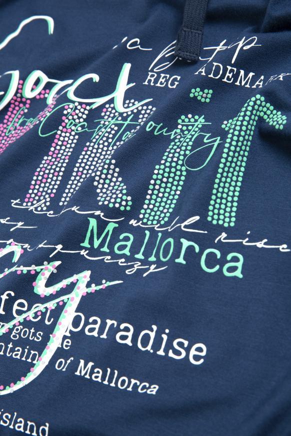 Shirt mit Artwork und hohem Kragen