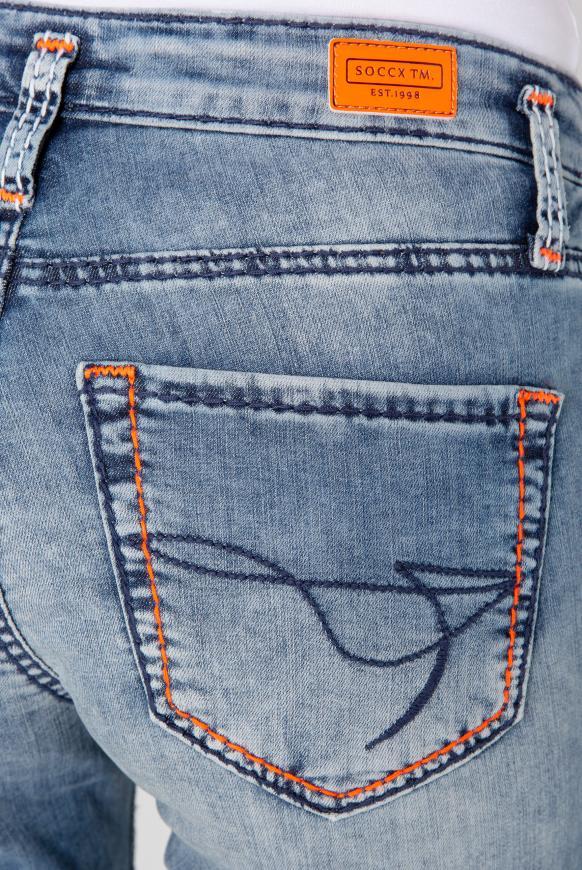 Slim Fit Jeans KI:RI mit Doppelknopf