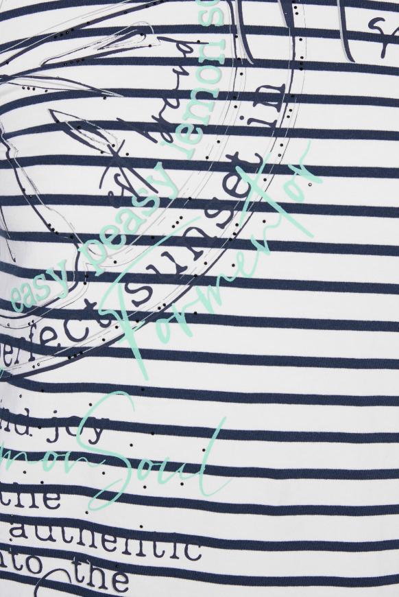 Streifenshirt mit Kontrastkapuze