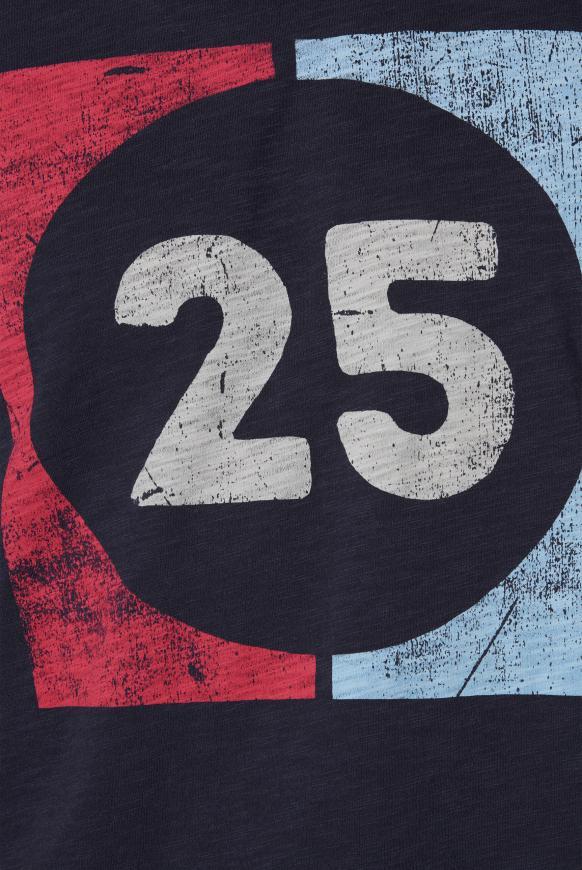 T-Shirt aus Flammgarn mit Used Print