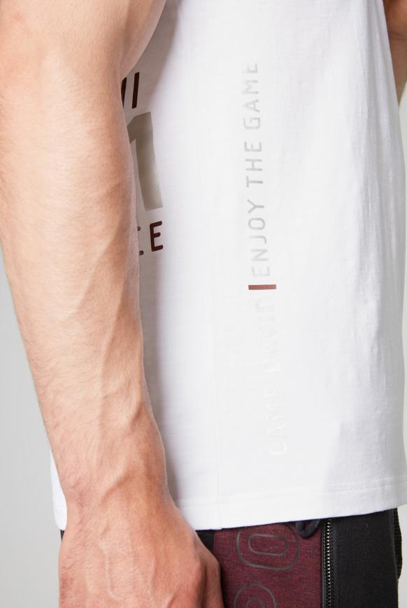 T-Shirt mit Folien-Artwork auf dem Rücken