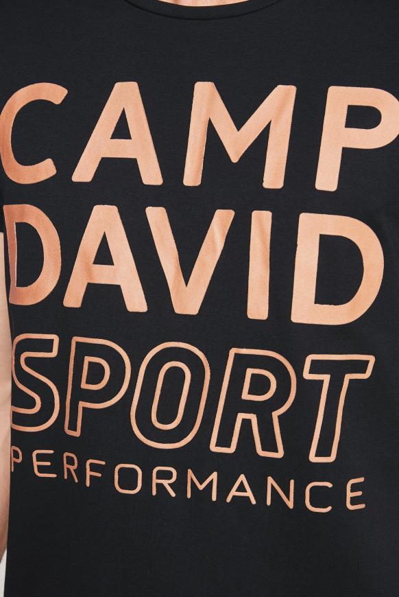 T-Shirt mit Logo Rubber Print