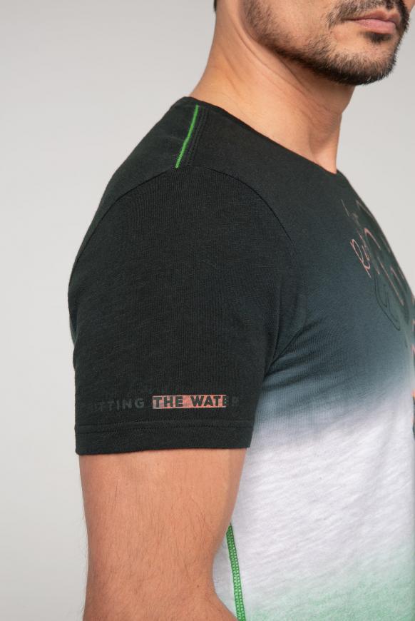 T-Shirt mit Logo und Dip-Dye-Effekt