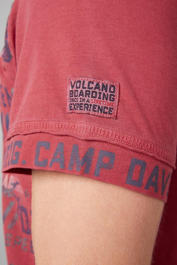 T-Shirt mit V-Ausschnitt und Used-Optik