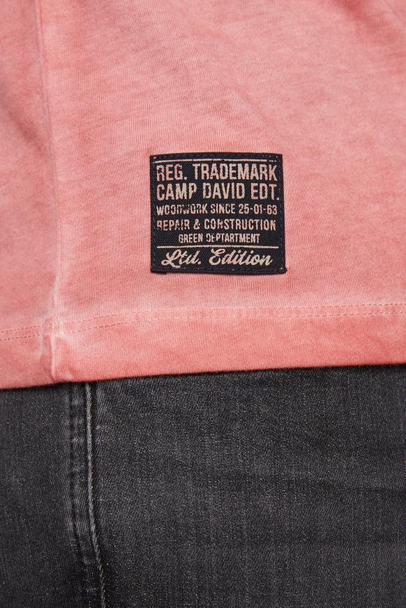 T-Shirt mit Vintage Print und Used-Färbung