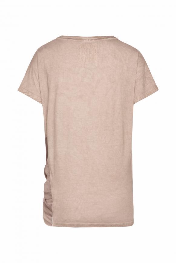 Asymmetrisches T-Shirt im Materialmix