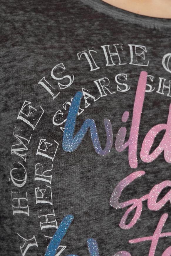 Ausbrenner-Shirt mit Artwork
