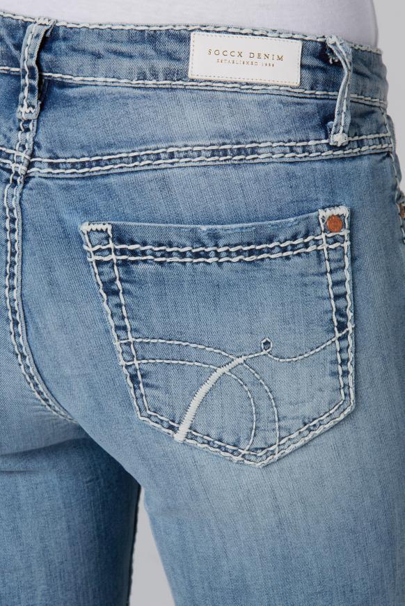 Bermuda Jeans RO:MY mit Vintage Look