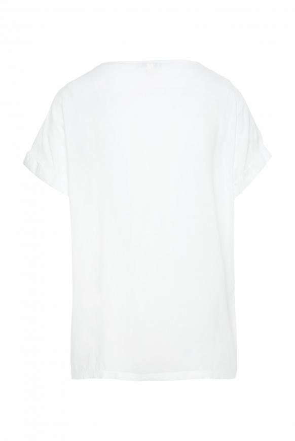 Blusenshirt mit Fotodruck und Glitzersteinen